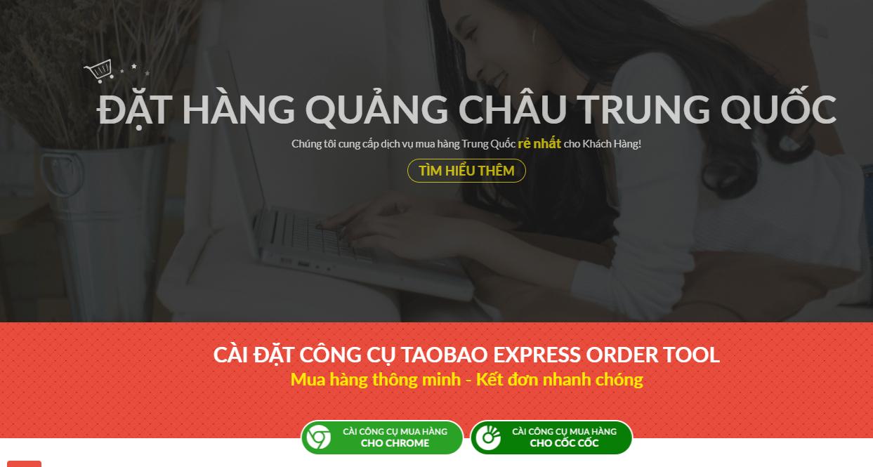 Cài đặt công cụ đặt hàng Taobao Express