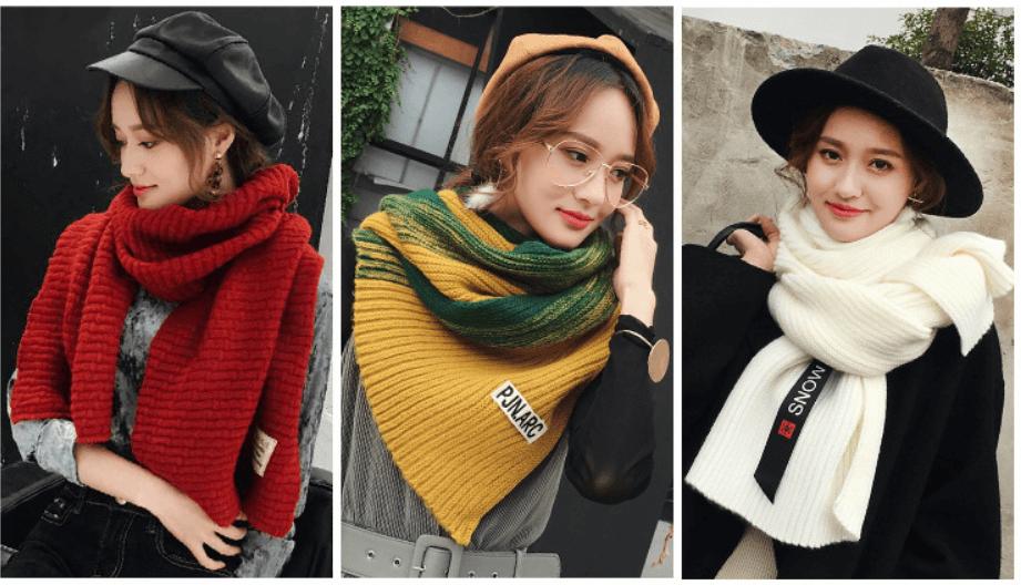 khăn quàng cổ nữ mùa đông