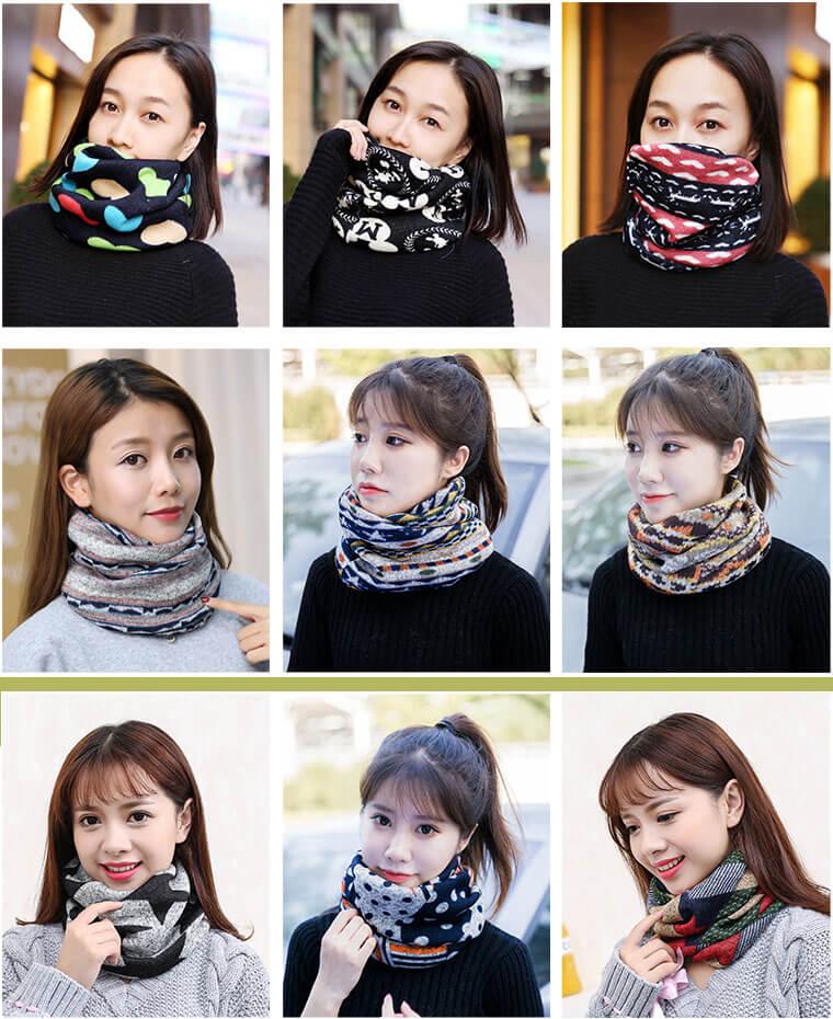 khăn quàng cổ len ống