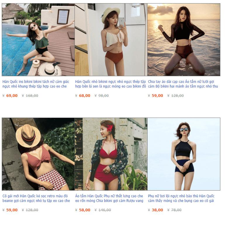 Nguồn hàng bikini đi biển đẹp giá rẻ