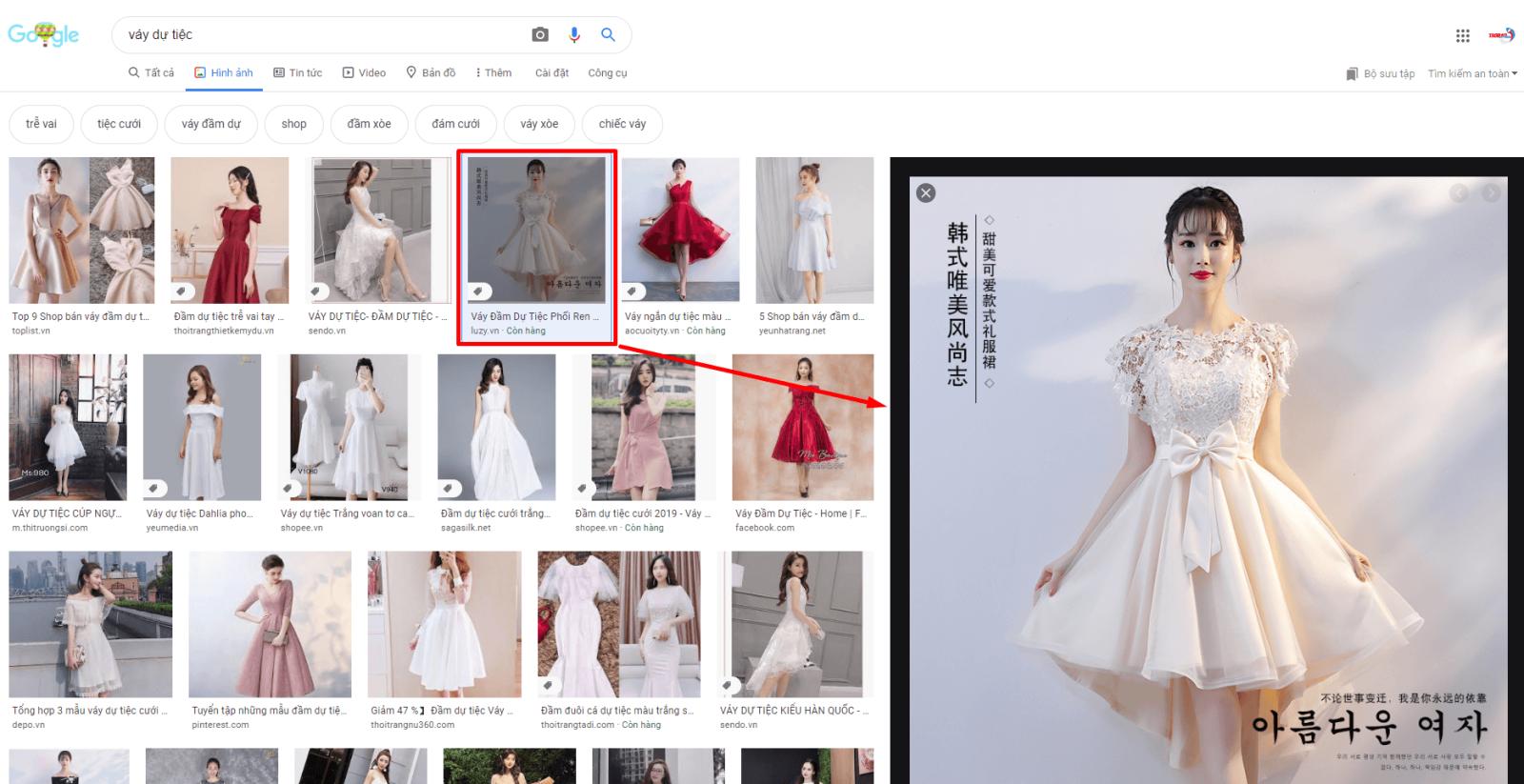 tìm kiếm các sản phẩm trên taobao bằng hình ảnh
