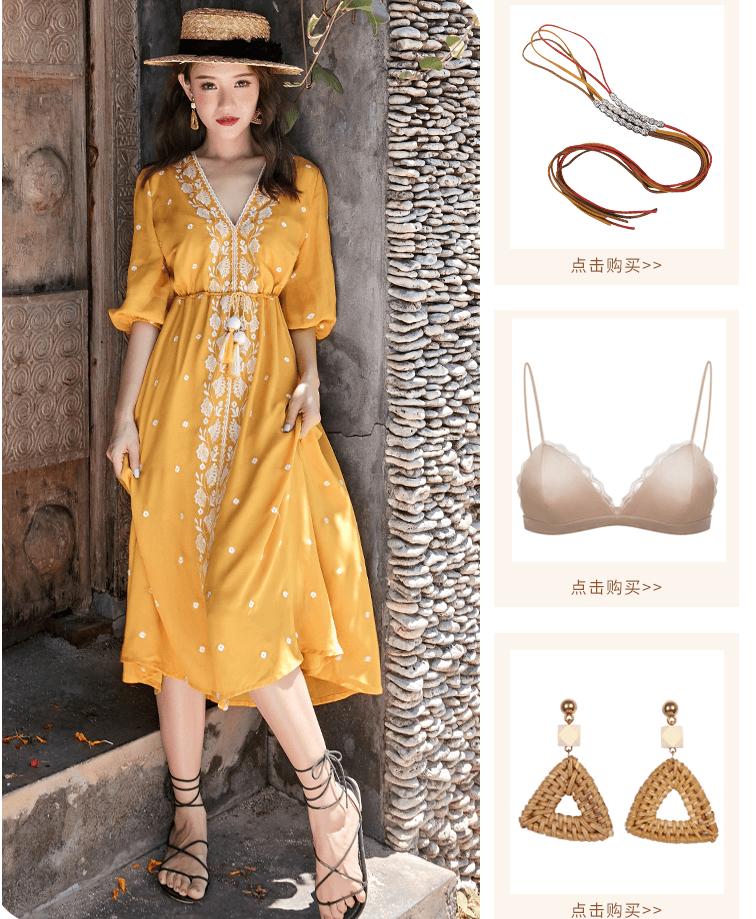 những mẫu váy maxi đi biển đẹp 2019 trên taobao