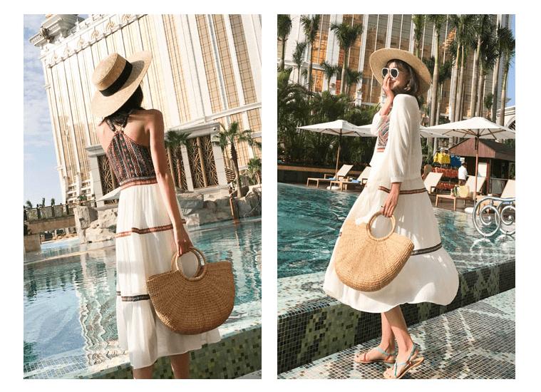 Những mẫu váy maxi mặc đi biển đẹp 2019 trên tmall