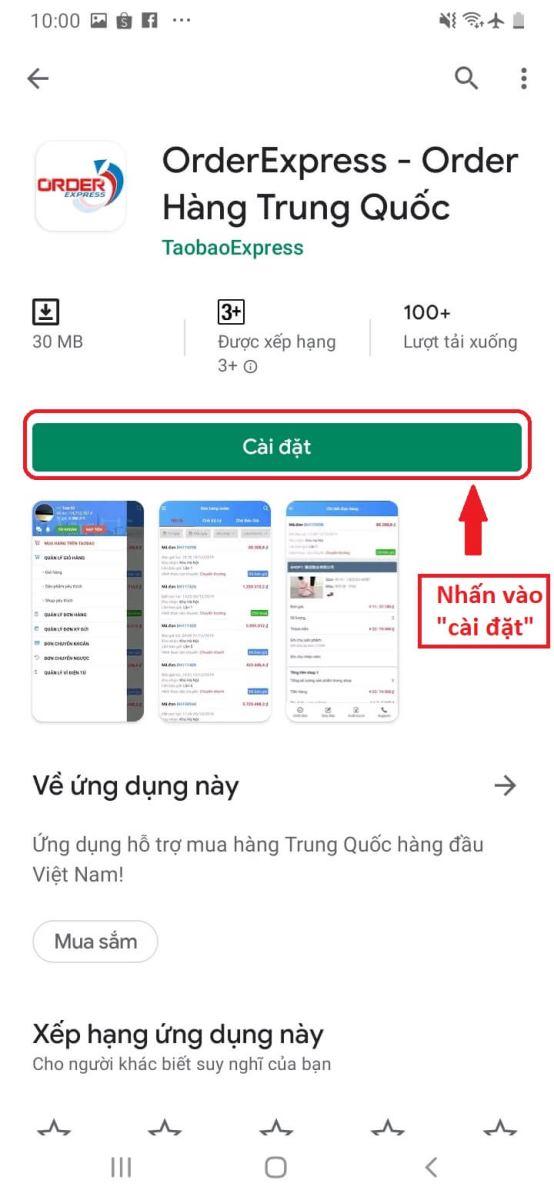 hướng dẫn tải app đặt hàng Trung Quốc Order Express trên Android