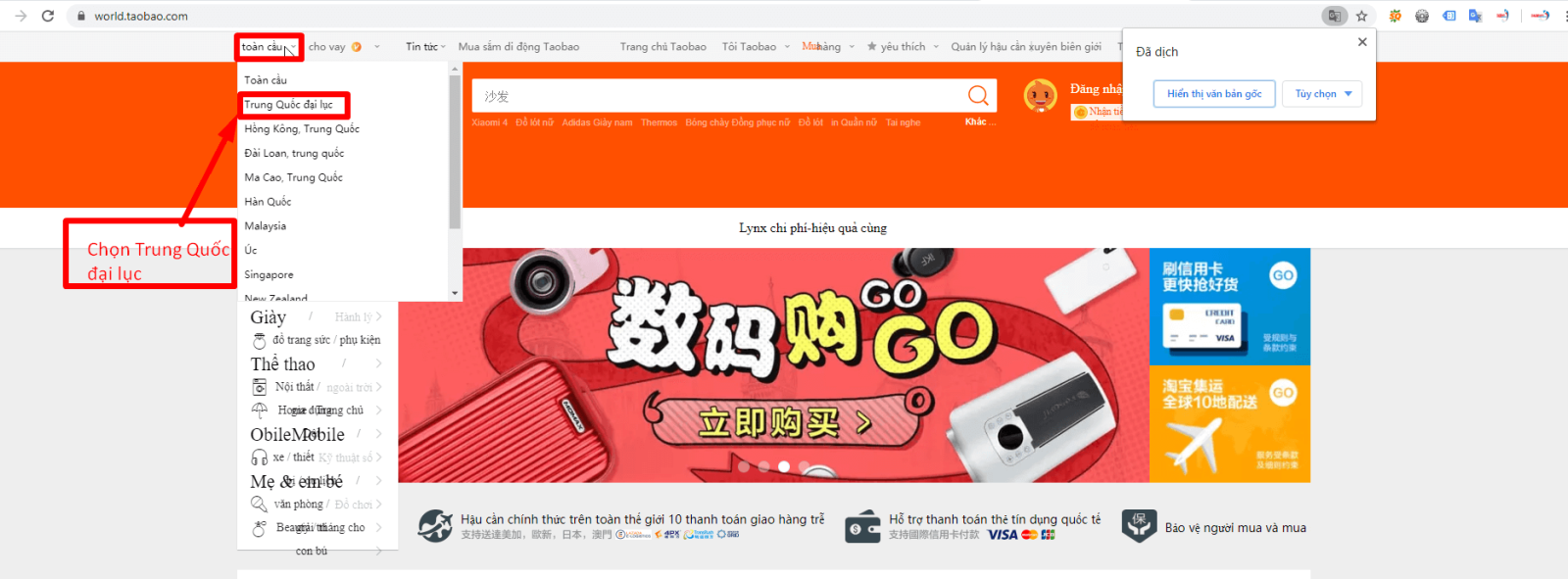 cách tìm hàng bằng hình ảnh trên taobao